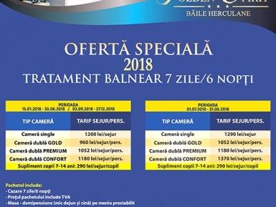 Ofertă Speciala – Tratament Balnear