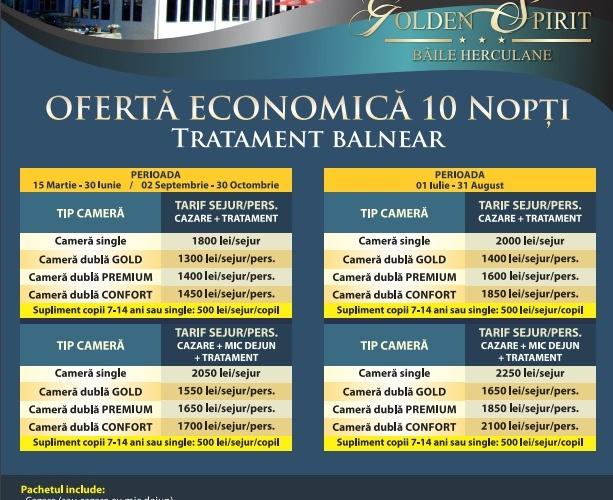 Oferta Economica 10 nopti Tratament balneat