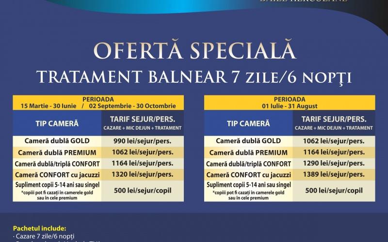Oferta Speciala Tratament balneat 7 zile/6 nopti